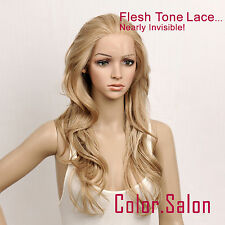 Hand-Tied Flesh Lace Front Synthetic Wigs Glueless Mixed Blonde 92#613M27 (F)
