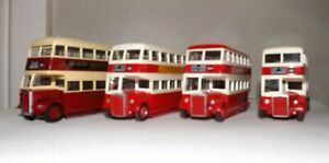 JOB LOT OF 4 UNBOXED EFE EAST KENT BUSES 4MM 1:76 SCALE
