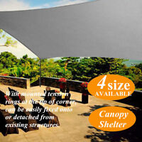 1.8/3/4/5m Extra Heavy Duty Sun Shade Sail Canopy Rectangle Outdoor Yard