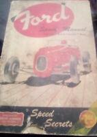 FORDC  V8 Vintage RARE  Speed CAR Manual V8,Six Cylinder,Lincoln,Merc, Secrets,