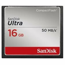 Carte mémoire CompactFlash UDMA7 SanDisk Ultra 16 Go avec une vitesse de lecture