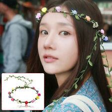 Boho Ladies Floral Flower Festival Wedding Garland Forehead Hair Head Band
