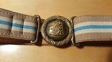 J & M Davidson Adjustable Striped Surcingle Belt Antiqued Brass Buckle/ England