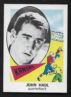 1961 NU-CARD Football #117 John Hadl RC Kansas QB Packers Rams Rookie NM-MT