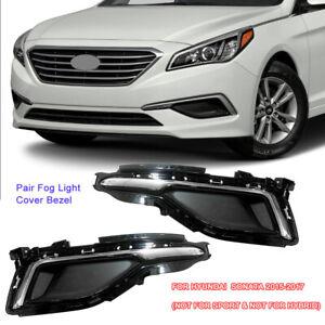 For Hyundai Sonata 2015 2016 2017 Fog Light Lamp Cover Front Bumper Bezel Trim