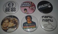 6 Mork and Mindy badges 25mm Shazbot! Nimnul Robin Williams
