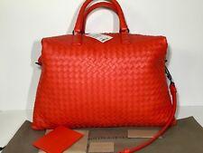 Authentic Bottega Veneta Woven Leather Satchel Tote/Bag ($3,100) Red New