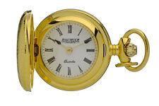 "Jean Pierre Quartz Pendant Watch, Gold Plated Hunter Case, 26"" Chain, L587PQ"