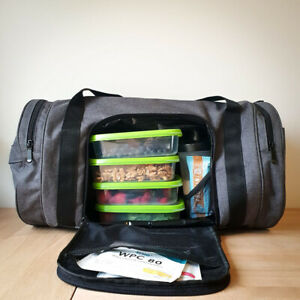 Mealami Meal Prep Duffle   Bodybuilding Work Gym Laptop Bag Travel Insulated
