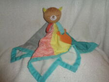 Bear Colorful Security Blanket Skip Hop Camping Cub Fish Teether Baby Squeak