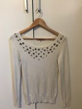 Review Cream & Sequined Jumper
