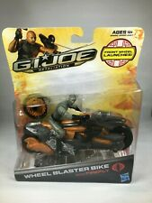 GI JOE RETALIATION WHEEL BLASTER BIKE WITH FIREFLY HASBRO FRONT WHEEL LAUNCHES!