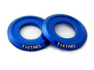 Washer M5 Aluminum Anodized Finishing Colorful Ti-STARS New design 10 pcs Blue