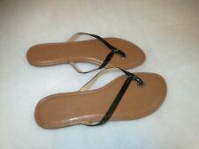 Banana Republic Women's Bronze Slip-on Sandals US Sz 9M black strap