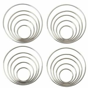 20 Piece Set Metal Macrame Hoop Rings for Dream Catchers and DIY Crafts, 5 Sizes
