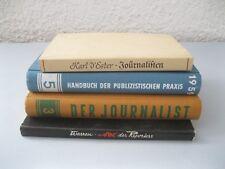 4 alte Bücher Journalistik / Publicistik