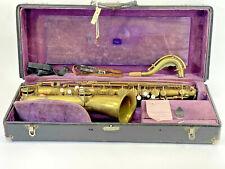 1919 Buescher True Tone Low Pitch Saxophone Gold #41581 Original Case, Key