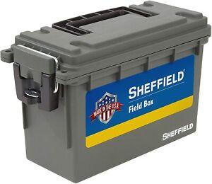 Field/Ammunition Box w/Compression Fit Lid & 3 Locking Options! Olive Green.