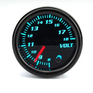 """2"""" 52mm 7 Color LED Display Voltage Gauge Voltmeter Volt Meter Meter Pointer Car"""