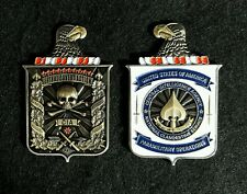 """C.I.A. N.C.S. Lethal Covert Action, Paramilitary Operations  3"""" x 2"""" in 3D Coin."""