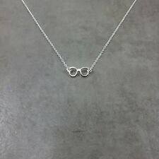 Glasses SILVER Plated Necklace Gift Box Spectacles Frames Eyesight Optical Eyes