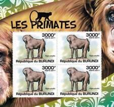 OLIVE (Anubis) BABOON African Primates Stamp Sheet #4 of 5 (2011 Burundi)