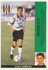 SINVAL # BRAZIL ULTIMOS FICHAJES MERIDA.CP STICKER CROMO PANINI LIGA 1996 ESPANA