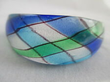 "BEAUTIFUL VINTAGE RESIN OR ACRYLIC MULTI COLORED CUFF BARCELET 6 1/2"" AROUND"