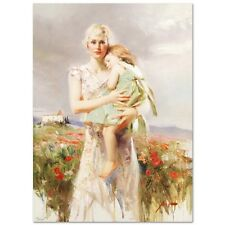 """Pino Giclee on Canvas Signed/# """"Angel From Above""""  pcoa 30X22 Mother/Daughter"""
