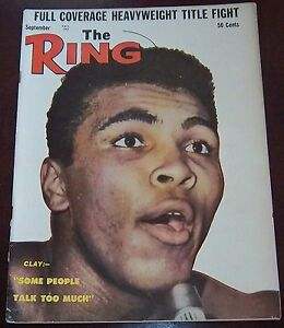 The Ring Magazine September 1963 Cassius Clay Collectable