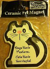 Ceramic Cat Kitten Pet Animal Best Friend Kitchen Refrigerator Magnet Nib #C