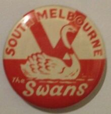 VFL/AFL COLLECTABLE BADGES SOUTH MELBOURNE SWANS