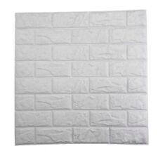 PE Foam 3D Hágalo usted mismo Autoadhesivas paneles Pegatinas de pared decoración en relieve de ladrillo 60x60cm