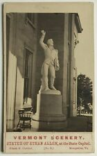 Ethan Allen Statue at Vermont State Capitol by Frank F. Currier 1860s CDV Photo