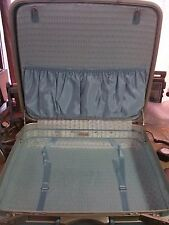 "Vtg SAMSONITE Silhouette BLUE Hard Suitcase Luggage 20"" W X 20"" T - no Key"