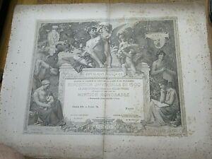 "RARE BEAU DIPLOME EXPOSITION UNIVERSELLE ""JEANNE SOYER"" 1900 Illustré BOIGNARD"