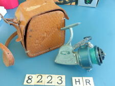 S8223 HR Rare Vintage Spin Mitey Fishing reel with leather case
