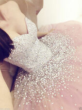 New Custom Sparkle Formal Quinceanera Dress Pink Ball Gown Long Party Prom Gowns