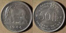 Belgian Congo : 1944 50 Fr  AU-UNC  Light Cleaning #27  IR2921