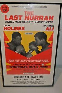 Muhammad Ali vs Larry Holmes * Original 1980 Closed Circuit Fight Poster * Rare