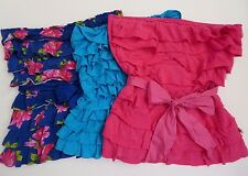 Hollister Womens Lot of 3 Strapless Ruffle Tube Tops Size Small Shirt Floral Bow