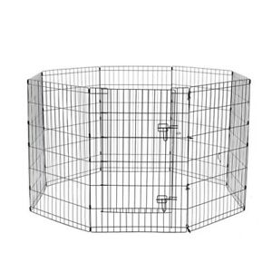 PET PLAY PEN 8 SIDED HEXAGON PANELS 61X91CM Puppy Exercise Cage Encloser Fence