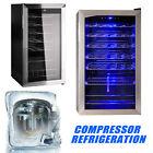 19/28/35 Bottles Wine Cooler Chiller Compressor Fridge Cellar Stainless Bar Rack photo