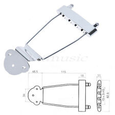 Chrome Trapeze Tailpiece Bridge For Archtop Bass Guitar