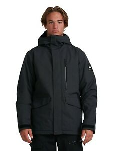 MENS MISSION SOLID SNOW JACKET BLACK FREE SHIPPING