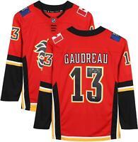 Johnny Gaudreau Calgary Flames Autographed Red Fanatics Breakaway Jersey