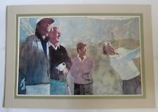 BERNIE FUCHS 1988 Golf Print Skins Game Master Players Palmer Watson Nicklaus