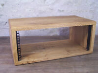 "4U 19"" Solid Oak Wood Rack Pod Case Wooden Studio Furniture Cabinet"