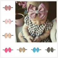 8-16pcs Newborn Baby Girl Headband Hairband Elastic Glitter Bow Hair Accessories