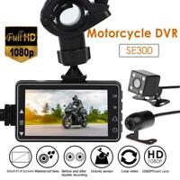 SE300 Motorcycle DVR Front+Rear View Motorcycle 1080P Dash Cam Video Recorder